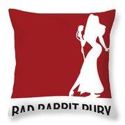 No14 My Minimal Color Code Poster Jessica Rabbit Throw Pillow