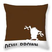 No16 My Minimal Color Code Poster Tasmanian Devil Throw Pillow