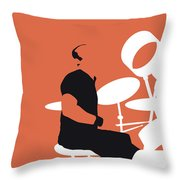 No163 My Phil Collins Minimal Music Poster Throw Pillow