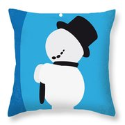No172 My Knick Knack Minimal Movie Poster Throw Pillow