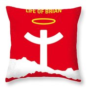 No182 My Monty Python Life Of Brian Minimal Movie Poster Throw Pillow