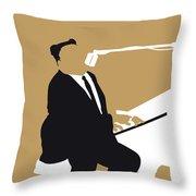No190 My Fats Domino Minimal Music Poster Throw Pillow