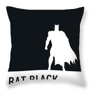 No20 My Minimal Color Code Poster Batman Throw Pillow