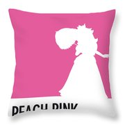 No44 My Minimal Color Code Poster Peach Throw Pillow