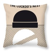 No454 My One Flew Over The Cuckoos Nest Minimal Movie Poster Throw Pillow
