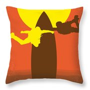 No455 My Point Break Minimal Movie Poster Throw Pillow by Chungkong Art