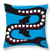No501 My Snakes On A Plane Minimal Movie Poster Throw Pillow