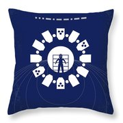 No532 My Interstellar Minimal Movie Poster Throw Pillow by Chungkong Art