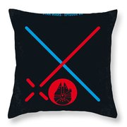 No591 My Star Wars Episode Vii The Force Awakens Minimal Movie Poster Throw Pillow
