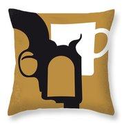 No596 My Tombstone Minimal Movie Poster Throw Pillow