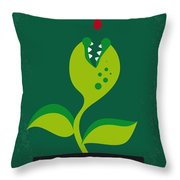 No611 My Little Shop Of Horrors Minimal Movie Poster Throw Pillow