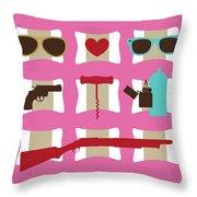 No736 My True Romance Minimal Movie Poster Throw Pillow