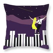 No756 My La La Land Minimal Movie Poster Throw Pillow
