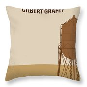 No795 My Whats Eating Gilbert Grape Minimal Movie Poster Throw Pillow