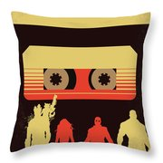 No812 My Guardians Of The Galaxy Minimal Movie Poster Throw Pillow