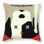 No893 My A Futile And Stupid Gesture Minimal Movie Poster Throw Pillow