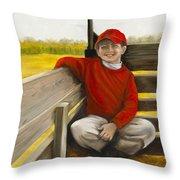Noah On The Hayride Throw Pillow