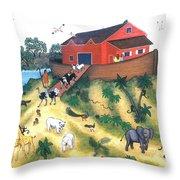 Noah's Ark One Throw Pillow