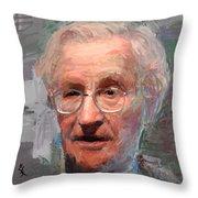 Noam Chomsky Portrait 1059 Throw Pillow