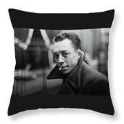 Nobel Prize Winning Writer Albert Camus Unknown Date #2 -2015 Throw Pillow