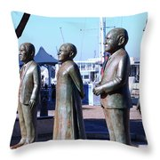 Nobel Square  /  To Honor South Africa's Four Nobel Peace Prize Laureates Throw Pillow