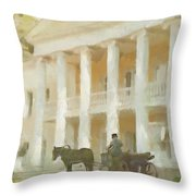 Noble Mansion Of The 19th Century In Russia Throw Pillow