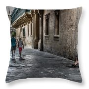 Nobody Is Listening. Throw Pillow