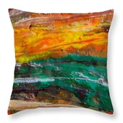 Nobody Landscape Throw Pillow
