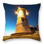 Nobska Light Falmouth Ma Cape Cod Window Shadow Throw Pillow