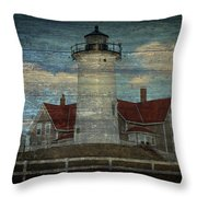 Nobska Lighthouse 2 Throw Pillow