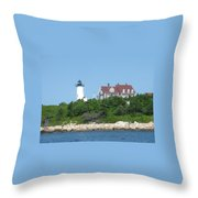 Nobska Point Lighthouse Throw Pillow