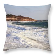 Nobska Point Seascape Throw Pillow by Roupen  Baker