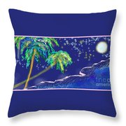 Noche Tropical Throw Pillow