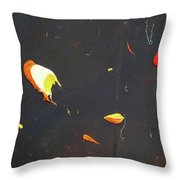 Nocturn In Black And Gold Throw Pillow