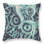 Nocturnal The Blue Owl Throw Pillow
