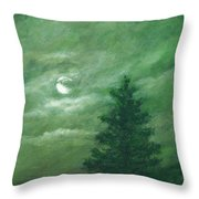 Nocturne In Green Throw Pillow
