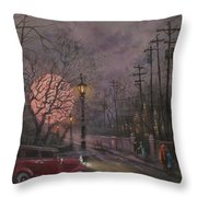 Nocturne In Lavender Throw Pillow