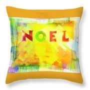 Noel Throw Pillow by Jocelyn Friis