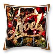 Noel Ornament Throw Pillow