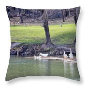 Noise Makers Throw Pillow