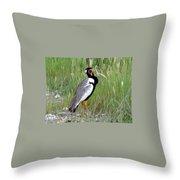 Noisy Bird Throw Pillow