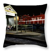 New Orleans Train Stop Throw Pillow