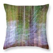 Noland Creek Abstract 1 Throw Pillow