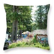 Nooksack City Park Throw Pillow