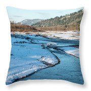Nooksack River On A December Afternoon Throw Pillow