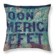 Noon American Buffet Throw Pillow