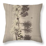 Noon Palms Throw Pillow