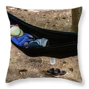 Noon Siesta In Cambodia Throw Pillow