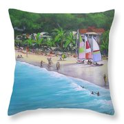 Noosa Fun Acrylic Painting Throw Pillow