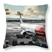 Norwegian Jet Throw Pillow